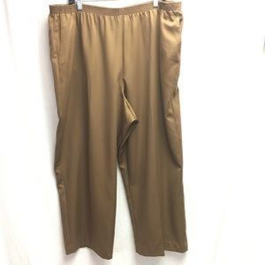 Alfred Dunner Classic Pull On Brown Pants 24W NWT